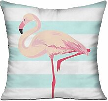 TIANHOME Cushion Cover Pillow Cover Pink Flamingo