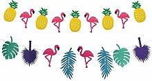 TianJi Party-Banner Dekoration Flamingo Ananas