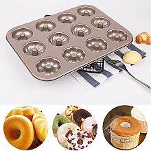 TianranRT 12 Gitter Donut Schimmel Tablett Für