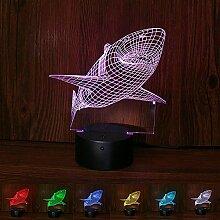 TianranRT 3D Hai Nacht Licht Optisch Illusion