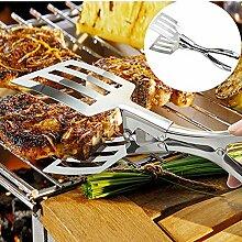 TianranRT Edelstahl Stahl Salat Zange Grill Küche