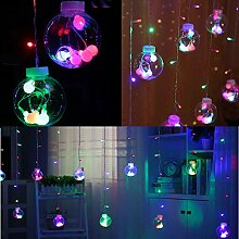 TianranRT LED String Kugel Licht Vorhang Wunsch