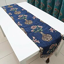 Tianzi Glanz Tischl?ufer / Tischfahne Europ?ischen Stil Luxus Stoff Tuch Tisch Tuch Tischset Essen Fahne Flagge Tischdecke-C 32x180cm(13x71inch)
