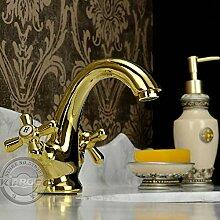 TianZly Krallenfuß Waschbecken Mixer Tap.Gold