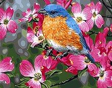 TIANZXS DIY Malen nach Zahlen Blumen Bild für