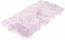 Tibet Lammfell Teppich 60x120cm (große Farbauswahl) JAY05 Farbe hell lila