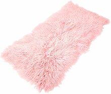 Tibet Lammfell Teppich 60x120cm (große Farbauswahl) JAY101 Farbe rosé / rosa