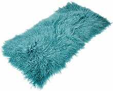 Tibet Lammfell Teppich 60x120cm (große Farbauswahl) JAY102 Farbe turquoise / türkis