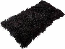 Tibet Lammfell Teppich 60x120cm (große Farbauswahl) JAY37 Farbe schwarz