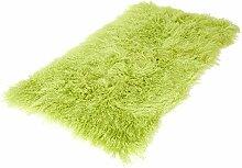 Tibet Lammfell Teppich rechteckig (große Farbauswahl) JAY10 Farbe lindgrün / hellgrün