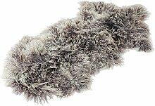 Tibet Lammfell Teppich Tierform (große Farbauswahl) JAY108 Farbe grau / lila (Tops)