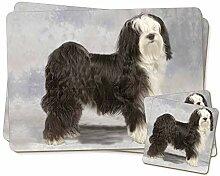 Tibetan Terrier Dog Zwillings Platzdeckchen und