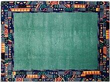 Tibeter Modern Nepal ca. 280 x 220 cm · Grün · handgeknüpft · Schurwolle · Modern · hochwertiger Teppich · 15395