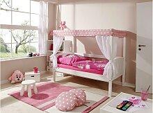 Ticaa Himmelbett Lino 80x160 cm rosa Kinder