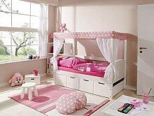 Ticaa Himmelbett Mini mit Bettkasten Stern Rosa