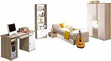 Ticaa Kinderzimmer Jugendzimmer Vicky Sonoma-Weiß