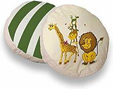 TICAA Rundes Kissen-Set für Kinderzimmer, 2-teilig