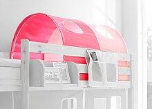 Ticaa Tunnel für Hoch-/Etagenbett rosa