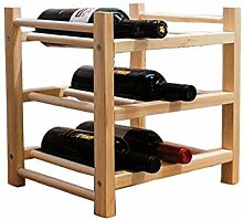 TIDLT 6 Flaschen Weinregal Aus Massivem Holz