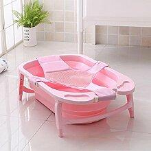 TIDLT Badewanne Faltbare Babybadewanne PP-Material Kinderbad Neugeborene Lieferungen Rosa Blau Lila (Farbe : Pink)
