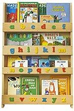 Tidy Books ® - Bücherregal Kinder | Natur buntes