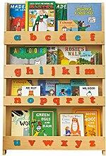Tidy Books ® - Bücherregal Kinder   Natur rotes