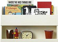 Tidy Books ® - Der originale Bunk Bed Buddy™, Hochbett-Regal in Cremeweiß. - Wandregal für Ablage neben Hochbetten oder Etagenbetten - Regal aus Holz - 33 x 53 x 12 cm