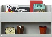 Tidy Books Der originale Bunk Bed Buddy™, Hochbett-Regal in Hellgrau - Wandregal für Ablage neben Hochbetten oder Etagenbetten - Regal aus Holz - 33 x 53 x 12 cm