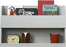 Tidy Books ® - Der originale Bunk Bed Buddy™, Hochbett-Regal in Hellgrau - Wandregal für Ablage neben Hochbetten oder Etagenbetten - Regal aus Holz - 33 x 53 x 12 cm
