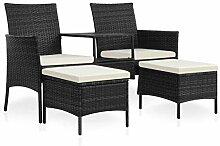 Tidyard 2-Sitzer-Gartensofa mit Tisch Loungesofa