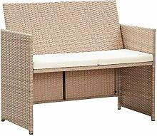 Tidyard 2-Sitzer-Sofa Gartensofa mit Polstern aus