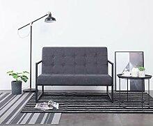 Tidyard 2-Sitzer-Sofa mit Armlehnen Dunkelgrau