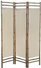 Tidyard 3/5-teiliger Faltbarer Raumteiler Bambus