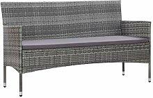 Tidyard 3-Sitzer-Gartensofa Sofa Couch aus Poly