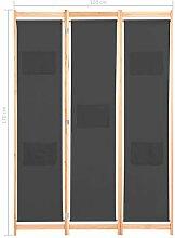 Tidyard 3-teiliger Raumteiler Grau 120 x 170 x 4