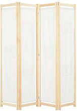 Tidyard 4-teiliger Raumteiler Cremeweiß 160 x 170