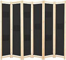Tidyard 6-teiliger Raumteiler Trennwand Paravent
