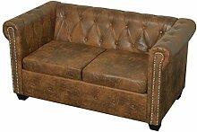 Tidyard Chesterfield Sofa 2-Sitzer Lounge