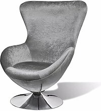 Tidyard Drehsessel Lounge Sessel in Ei-Form mit