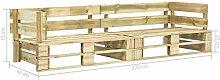 Tidyard Garten-Palettensofa 2-Sitzer Holz,Lounge