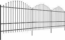 Tidyard Gartenzaun mit Speerspitzen Stahl Zaun