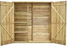 Tidyard Holz Garten Geräteschuppen mit 4