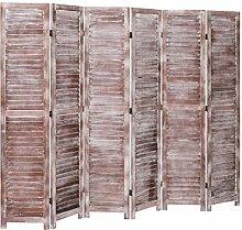 Tidyard Holz Raumteiler 6-TLG. Klappbar Paravent