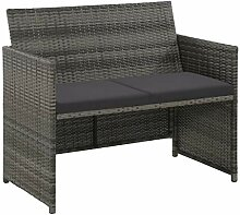 Tidyard Lounge Sofa 2-Sitzer Couch aus Poly