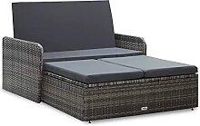 Tidyard Lounge Sofa Gartensofa 2-Sitzer mit