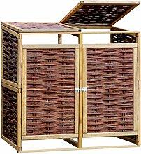 Tidyard Mülltonnenbox für 2 Mülltonnen 240 L