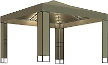 Tidyard Pavillon mit Doppeldach & Sola LED