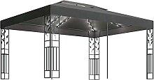 Tidyard Pavillon mit Doppeldach und Lichterketten