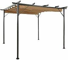 Tidyard Pergola mit Ausziehbarem Dach