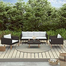 Tidyard Poly Rattan Lounge Sitzgruppe Sofa-Set,